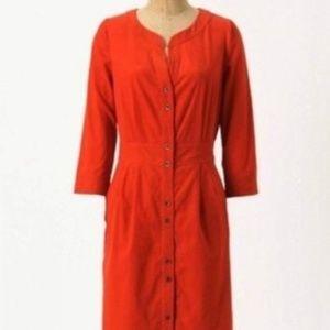 Anthropologie Maeve Anaheim Burnt Orange Dress - 8